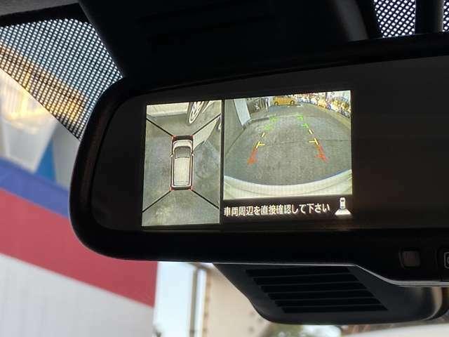 アラウンドビューモニター付で駐車が苦手な方にも安心です。