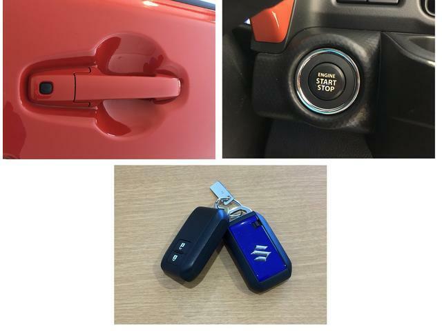 携帯リモコンを持っていればドアのリクエストスイッチを押して施錠・解錠。 エンジンスイッチで始動も可能。