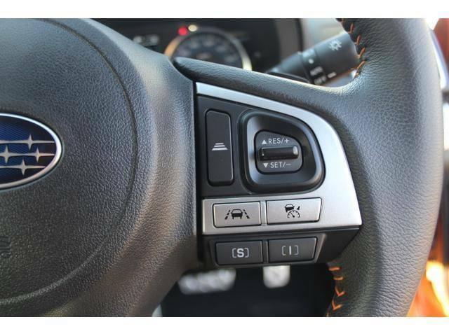 ハンドルから手を離さずに操作出来る追従クルーズコントロール&SIドライブスイッチ