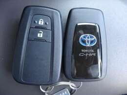 便利なスマートキー!鍵の開錠・施錠はボタン一つ!ポケットやカバンに入れたままでエンジンをかける事が出来ます。