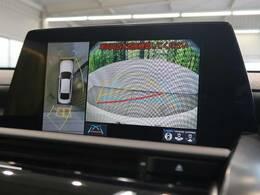 ●【パノラミックビューモニター】装備で空の上から見下ろすような視点で駐車が可能です☆前後左右の状況を把握出来るので安心感が違いますね(^^♪