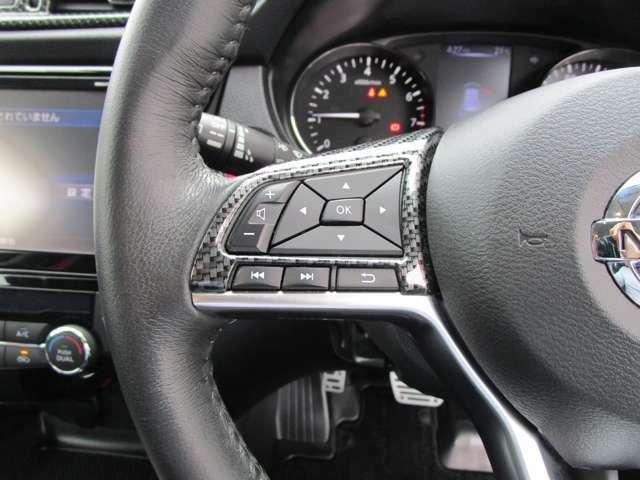 ナビの音量など車両情報を手元で操作できるハンドルスイッチ付き。
