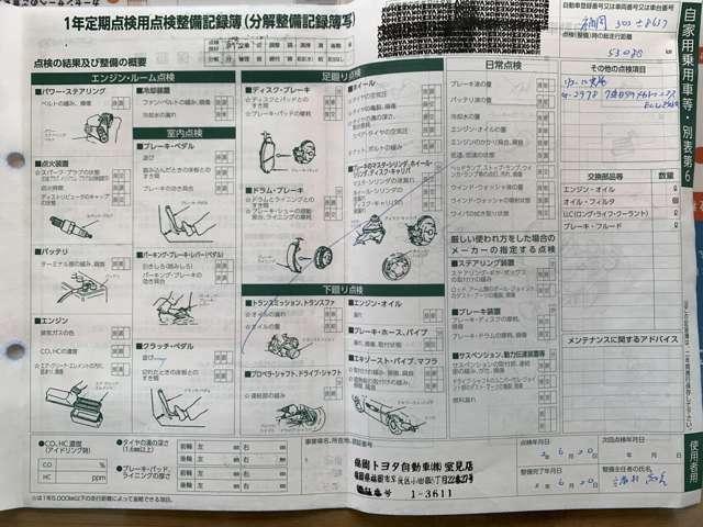 最終点検 令和3年6月 トヨタにて実施済み(^^♪ もちろん納車前にも法定24か月点検を実施して納車させて頂きます☆