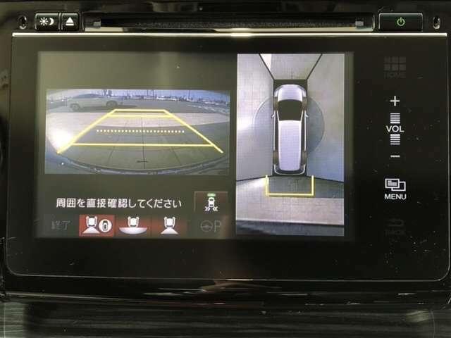 フロント・サイド・バック・全周囲カメラ付きで広範囲の確認が出来ます!スムーズな駐車・車庫入れをサポートいたします!