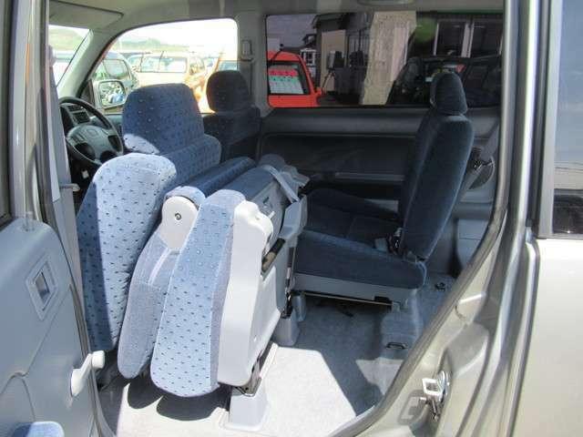リヤシートを畳むと荷物も結構積めます!