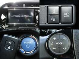 H29年式 アクア クロスオーバー セーフティセンス/衝突軽減ブレーキ/車線逸脱警報/純正9インチフルセグナビ/ブルートゥース/バックカメラ/半革シート/純正16インチAW/LED/フォグランプ/ウィンカーミラー/