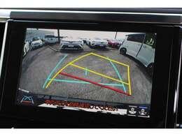 ガイドライン付バックモニター☆コーナーセンサー・パーキングブレーキサポート機能で駐車も安心です♪
