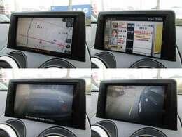 純正HDDナビが装備されております♪画面もクリアで運転中も確認しやすいです♪フルセグTVとDVDの視聴もお楽しみ頂けます♪安心のバックカメラ、サイドカメラも装備されています♪