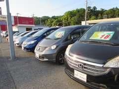 在庫は軽自動車だけでなく普通車も取り扱っております!注文販売も随時承っておりますので、ご希望のクルマをお探しいたします!