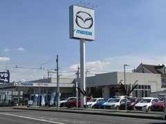 お車でお越しの場合、常磐高速柏インター埼玉県方面にに5km程進み左側です。マツダの大きな看板が目印です!