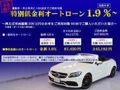 特別低金利オートローン取扱い。新・中古車共に実質年率1.9%!