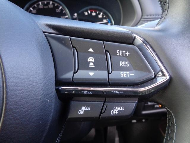 追従型クルーズコントロール付き!高速道路走行時にアクセルやブレーキを操作することなく、前方車との車間距離を保つよう自動で車速をコントロールします。全車速追従機能付きは時速0キロから高速域までカバー!
