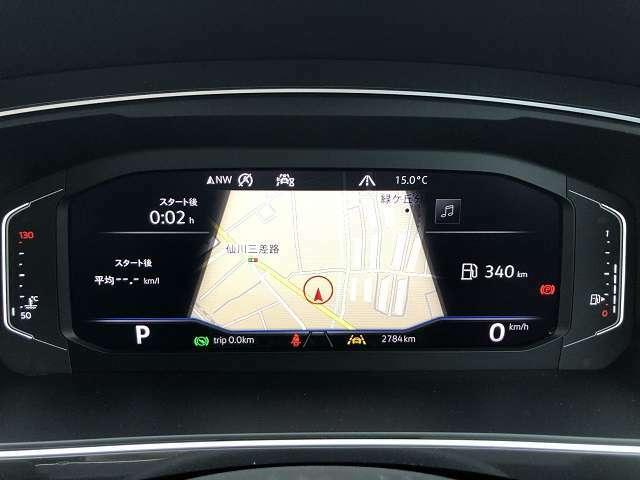 デジタルメータークラスター「Active Info Display」表示モード変更可能