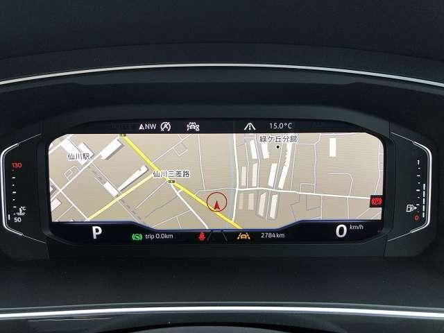 デジタルメータークラスター「Active Info Display」/全画面ナビモード