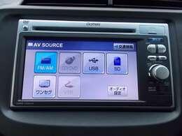 純正メモリーナビです。DVD/CD再生のほかにもワンセグTV、USB入力端子も装備されとっても便利です!