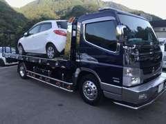 自社積載車完備!保険対応のレッカー業務も行っております。