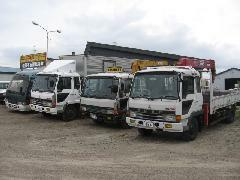 色んな種類のトラックや乗用車を展示しています!お客様のご来店を心待ちにしております!