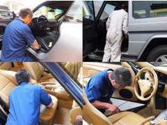 ■熟練スタッフが愛情をこめて入念な車両クリーニングを実施済。