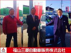 中心よりセンター長の今井、(写真左)営業の幸元、(写真右)営業の川本と事務の佐藤でサポートさせて頂きます。