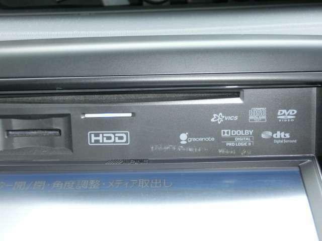 HDDナビはアルバム数も多数入る程の録音機能付きです。DVD再生も可能ですので気分に合わせてお好みの音楽を聞きながら快適なドライブへお出かけ頂けます。