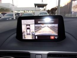 後退時に後方の安全確認をアシストするバックカメラの他、360°カメラを装着しているので夜間時や雨天時の駐車の際に大変重宝するアイテムでございます。
