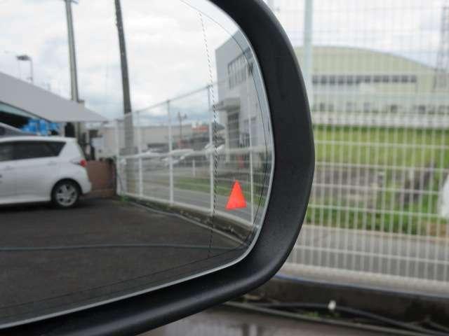 ◆ブラインドスポット◆死角からの車両の接近をレーダー検知してくれます◆