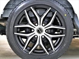18inchFLEXオリジナル【Delf01BP】アルミホイール&18inchグットイヤー イーグルタイヤ