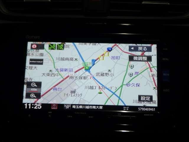 【ナビゲーション】ギャザズナビ (VXU-205CVi)付きで今すぐ遠出の旅行もロングドライブもお任せい!ちょっとしたお出掛けにも便利ですね!