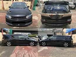 黒色で目立った傷も少なく綺麗な車体になります。