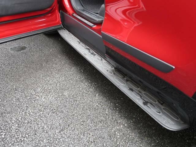 【固定式サイドステップ】乗り降りに役立つ固定式サイドステップ。ロゴも入っている純正品になりますので、お車にマッチしております。