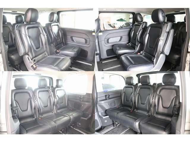 セカンドシート サードシート アレンジでシート向き取り外し等可能です。