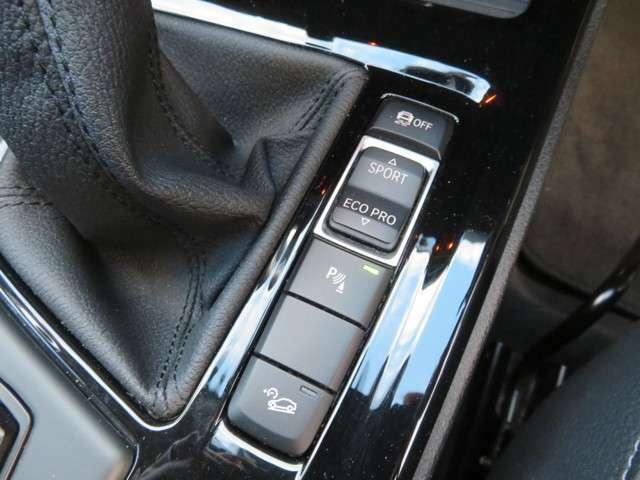 走行モード切替スイッチにオプション装備のヒルセントコントロール完備。