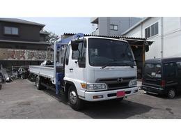 日野自動車 レンジャー 4段ラジコンクレーン・角足・差し違い
