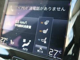 シートヒーター&ベンチレーション機能、さらにステアリングヒーターも装備しております。また2列目シートにもシートヒーターを装備しております。