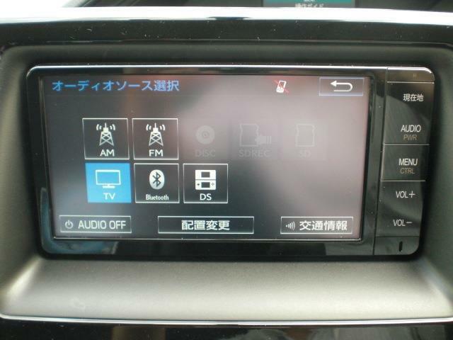 トヨタ純正ディーラーオプション(NSZT-W64)SDナビ&フルセグTV/CD&DVD&SD再生/SDカードCD録音/ブルートゥース接続可能