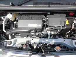 エンジンルームです。しっかりメンテナンスで安心できる中古車・・・それが三菱認定中古車です。