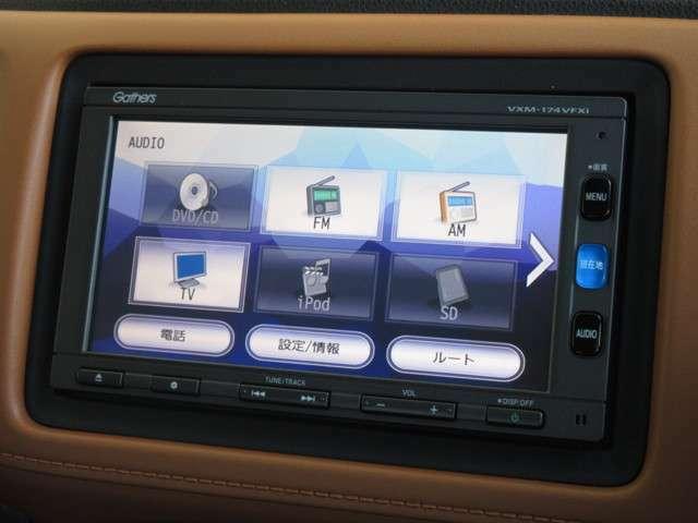 ナビゲーションはホンダ純正メモリーナビ(VXM-174VFXi)が装着されております。AM、FM、CD、DVD再生、フルセグTV、Bluetoothがご使用いただけます。初めて訪れた場所でも道に迷わず安心ですね!