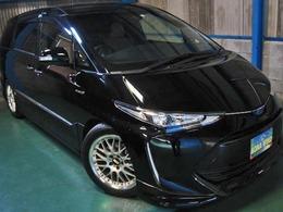 トヨタ エスティマハイブリッド 2.4 アエラス スマート 4WD プリクラ革WTV寒冷PBドア18AWエアロ車高調