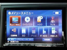 アルパイン8型HDDナビを装備。フルセグTV、ブルートゥース接続、DVD再生可能、音楽の録音も可能です