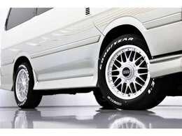 こちらも大変希少です!アルミ:BBS RS4 17インチ タイヤ:グッドイヤーナスカーホワイトレター215/60-17。もう手に入りません!