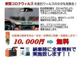 コロナ負けるなキャンペーン実施中!欧州車で定評のあるウィンズ社製のAIRCO-CLEANで徹底的にコロナウィルスとエアコン・室内の匂い取りも同時に行います♪(ご納車直前に施工致します♪)