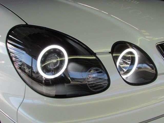 ☆新品☆『LEDホワイトリング内蔵プロジェクターヘッドライト:ブラックインナータイプ』装着済み!!
