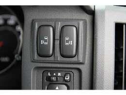 両側パワースライドドアを装備!車内ボタンでの開閉操作&キーレスリモコンでの遠隔操作もOK♪ぜひご活用下さい^^