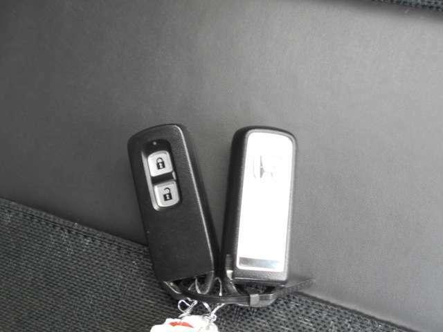 スマートキーでドアロックの開閉が出来ます。キーをカバンに入れたままでも使えますのですごく便利です。