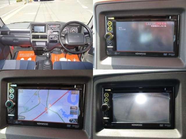 KENWOODナビTV(MDV-313)が装備されております。ワンセグTV・DVD再生・CD・ラジオの機能です。バックカメラ付きですので、後退が苦手な方も安心です。