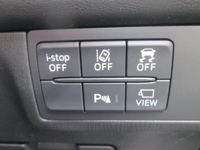 アイドリングストップ、LDWS車線逸脱警報システム、DSC横滑り防止装置、コーナーセンサーは運転席のスイッチでオンオフが可能です。カメラ映像への切替えスイッチ付きです。
