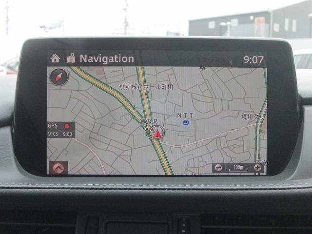 8インチセンターディスプレイにナビやインターネットラジオ、Bluetoothなどのエンターテーメント機能を凝縮したマツダコネクトを装備。音声認識機能にも対応しています。DVD&地デジのオプ付き。