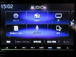 音楽ソースはCD/DVD/SC/SD/USB/Bluetoothに対応しておりますので、スマホ連携もラクラクですね
