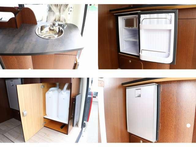 給排水シンク DCインバーター式冷蔵庫