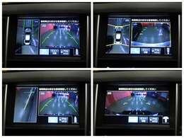 """【アラウンドビューモニター】前後左右に付いた4個のカメラにより、車を上空から捉えたような映像を映し出すなど、状況に応じた様々な""""視界""""を提供。駐車はもちろん見通しの悪い交差点や狭い道でもサポート!"""